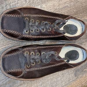 Dr Martens 11672 Canvas 6 Eye  Dark Brown Leather